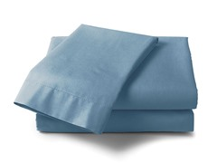 600 Thread Count Cotton Sateen Sheet Set  - Blue