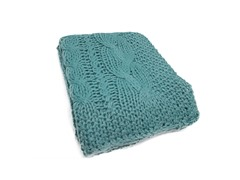 """Hampton-Hand Knit-Aqua  50"""" x 60"""""""