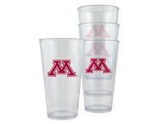 Minnesota Plastic Pint Glasses 4-Pk