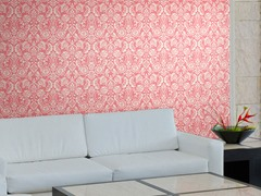 Floral Diamond Damask Pink Tiles