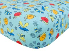 Bug Print Flannel Crib Sheet