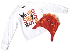 Boys Dino Hat & Tee (Size 7)