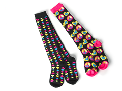 Hearts & Peace Knee Socks (2 Pair)