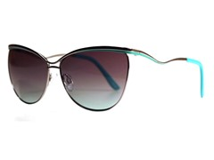 Nellie Sunglasses, Gunmetal/Seafoam