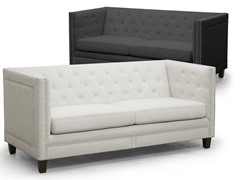 Parkis Linen Button Tufted Sofa-2 Colors