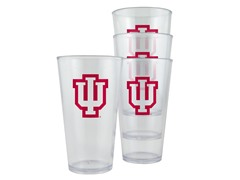 Indiana Plastic Pint Glasses 4-Pk