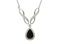 1/4cttw Black Diamond Necklace