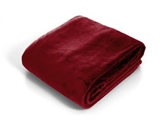 Lavish Home  Super Soft Flannel Blanket-Burgandy