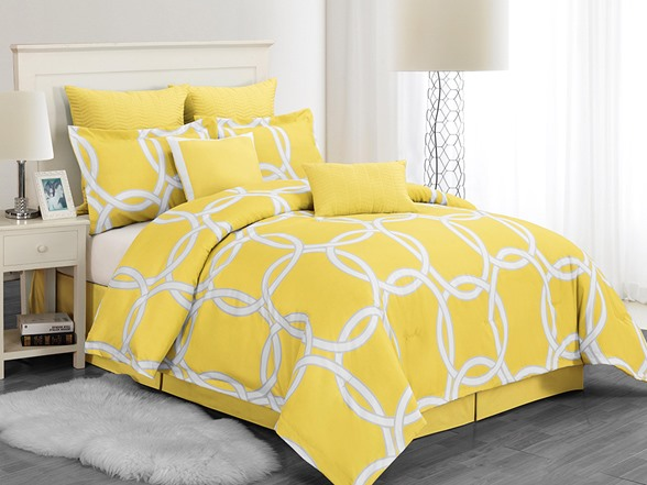 Redington Hotel 8pc Comforter Set Yellow 2 Sizes Home Woot