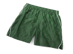 Youth Solid Green Shorts with Piping