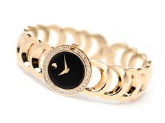 Ladies Rondiro Diamond Gold Tone Watch