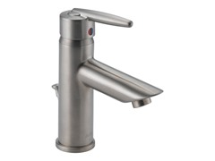 Single Handle Lavatory Faucet, Stainless