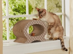 Cool Cat Cardboard Cat Scratcher - Taupe