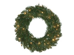 "Allegheny Fir 30"" Wreath Prelit Clear"