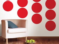Red Hot Dot Decals - Set of 16
