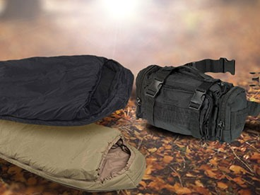 Tactical Sleeping Bags, Knives and Survival Bundle