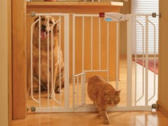 Super Wide Metal Walk Through Pet Gate