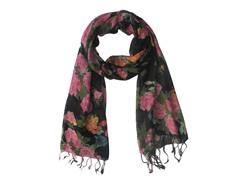 Kitara Floral Scarf  Pink & Black