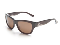 Brown Sunglasses w/Stripe and Brown Lens