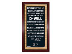 """Brooklyn Nets 16"""" x 32"""" w/ Game-Used Net"""