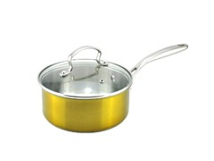 Kevin Dundon 2 QT Sauce Pan - Gold