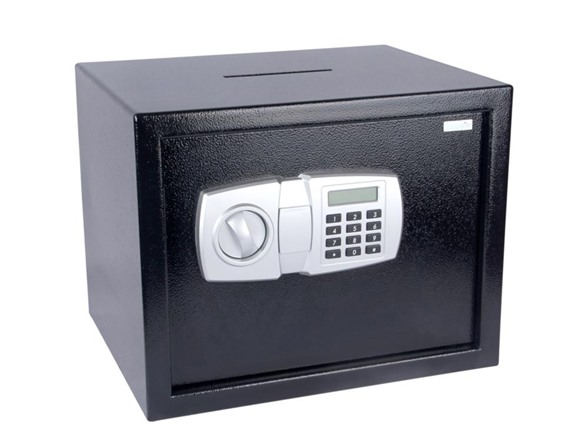 Electronic Safe Box With Mechanical Override