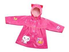 Lucky Cat Rain Coat (2T-6X)