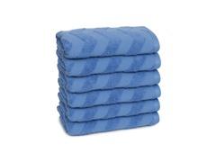 Chevron Hand Towels S/6-Hyacinth