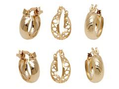 Gold Set of 3 Hoop Earrings