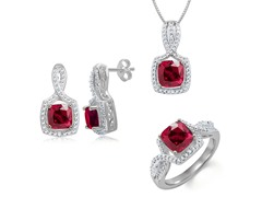 Diamond & Created Ruby Set