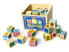 Alphabet Blocks 48 Pc Set