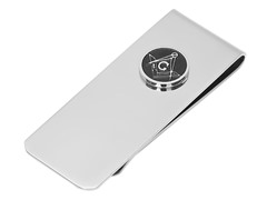 Stainless Steel Masonic Money Clip
