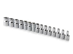 "15 PC 1/4"" Drive Multi-Fit Socket Set"