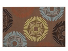 In/Outdoor Rugs Rain Mocha Wheel