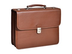 "Ashburn Leather 15.4"" Flapover Laptop Case"