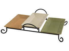 Sorrento 3 Tray Server - Color Trays