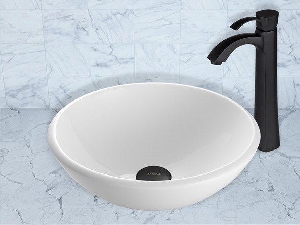 how to clean a stained white ceramic sink
