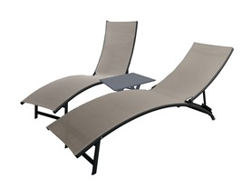 Vivere Midtown Loungers 3 Pc Set - Cocoa