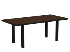 Euro Dining Table, Black/Mahogany