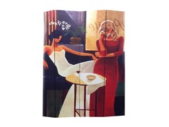 4 Panel Women in Fashion Canvas Room Divider