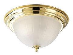 3-Light Close-To-Ceiling, Polished Brass