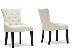 Epperton Beige Linen Modern Dining Chair (2)