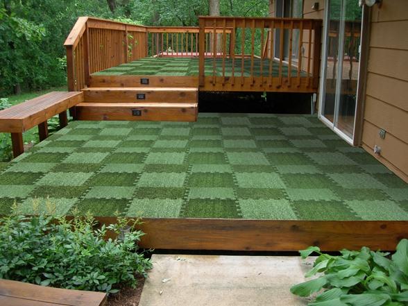 interlocking grass deck tiles 18 pack. Black Bedroom Furniture Sets. Home Design Ideas