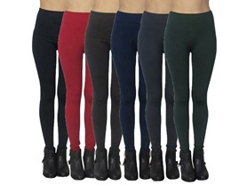 Women's 6-Pack Fleece Leggings