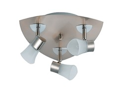 3-Light Satin Ceiling Mount, Frosted