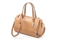 Coach Mini Satchel in Saffiano Leather,Brown