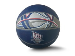 New Jersey Nets Primary Full Size Ball