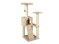 """53"""" Cat Tree Condo - Ivory"""