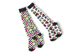Smiley & Hearts Knee Socks (2 pair)