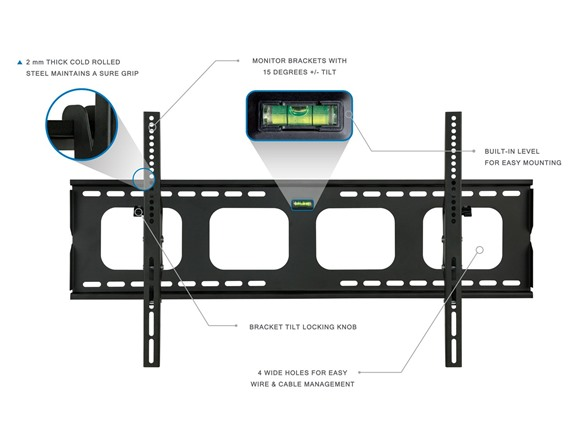 Size 42-80 inch Mount-It Tilting TV Wall Mount Bracket For Samsung ...